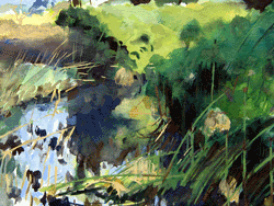 gouache painting fiume ciane